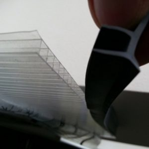 Gummipackning för 4mm och 6mm polykarbonatplattor
