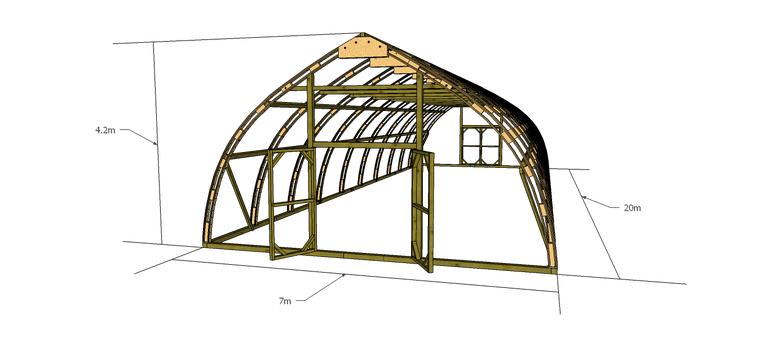Växthus TRÄ 700 (70m2 – 280m2)