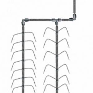 Klassiskt bevattnings system med spindel 2 (utantryckkompersation)
