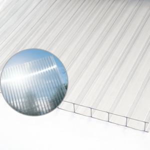 Polykarbonat kanal genomskinlig 4mm