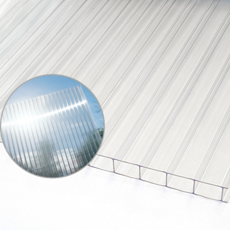 Polykarbonat kanal genomskinlig 10mm