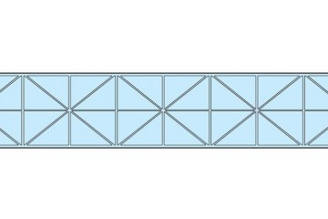 Polykarbonat kanal genomskinlig 20mm