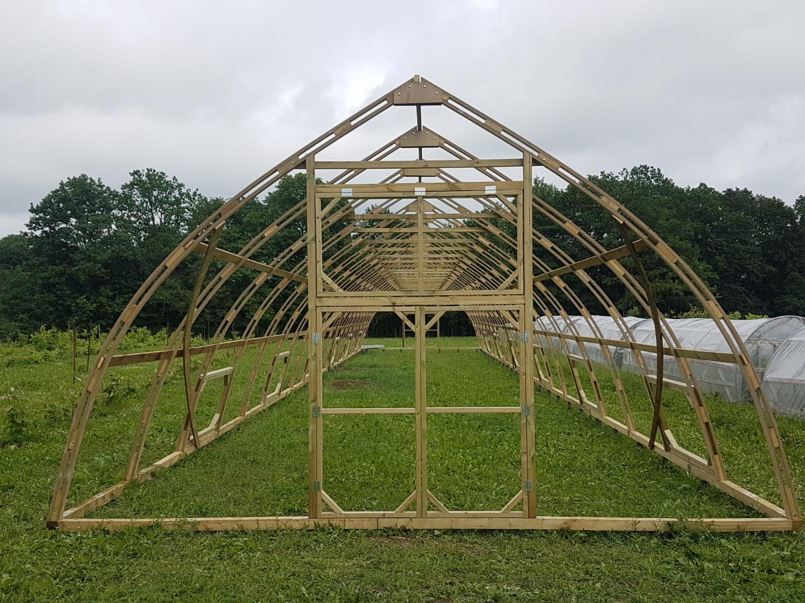 Sidofönster för växthus modell tre