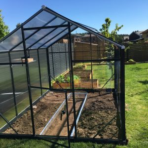 Växthus ALU GLASS (6,5 m2 – 18,6 m2)